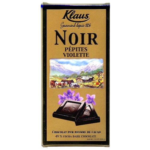 шоколад cemoi темный с карамелизированными кусочками миндаля 100 г Шоколад Klaus темный с кусочками фиалки, 100 г