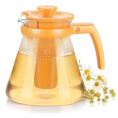 Tescoma Заварочный чайник Teo 1,25 л, желтый заварочный чайник loraine 0 75 л желтый 26594 2
