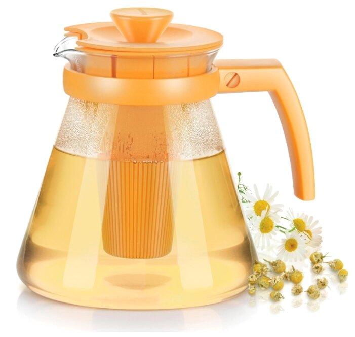 Чайник Tescoma Teo 1.25л, с ситечками для заваривания, жёлтый 646623.12