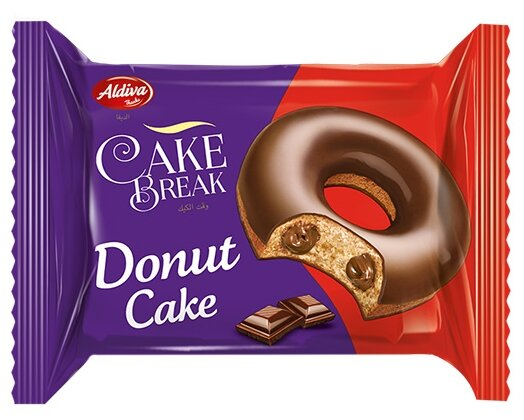 Aldiva пончик Cake break с какао кремом в шоколадной глазури