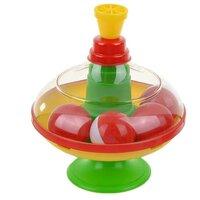 Юла-карусель Стеллар малая с шариками (01319) зеленый/желтый/красный