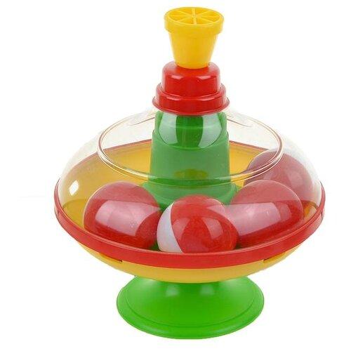 Юла-карусель Stellar малая с шариками (01319) зеленый/желтый/красный игрушка chuc юла