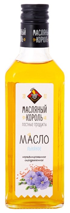Масло льняное 100%, 100 мл - Масляный король