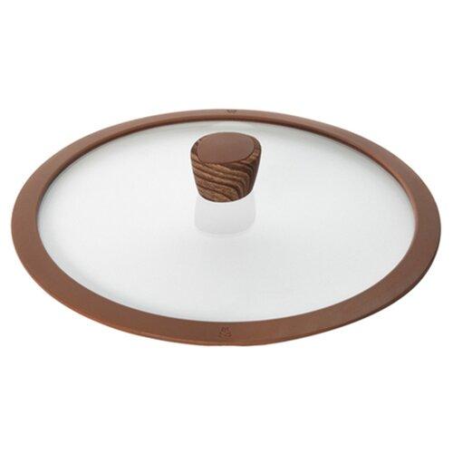 Крышка Nadoba Greta (751311) (28 см) прозрачный/коричневый крышка с силиконовым ободком d 28 см nadoba greta 751311
