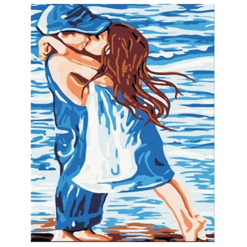 Купить Цветной Картина по номерам Поцелуй 40х50 см (MG119), Картины по номерам и контурам