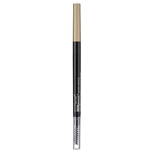 Maybelline New York карандаш Brow Precise Micro Pencil, оттенок 1, Темный блонд недорого