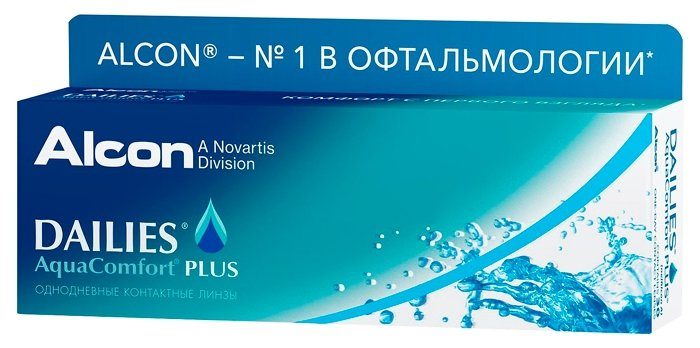 Контактные линзы Dailies (Alcon) AquaComfort PLUS (30 линз) R 8,7 D -5,75