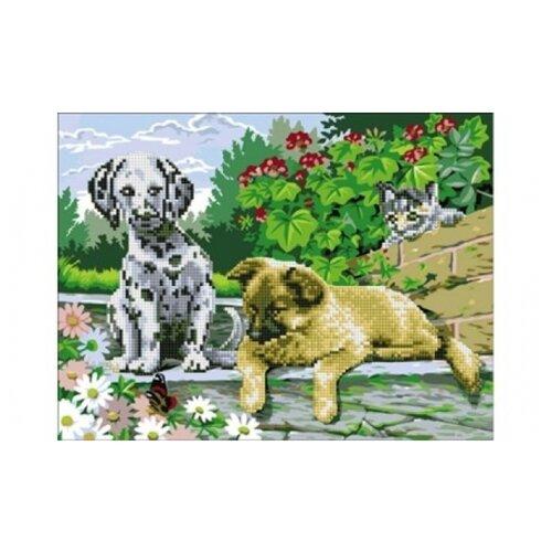 Купить Рыжий кот Набор алмазной вышивки Пушистые друзья (AC4008) 50х40 см, Алмазная вышивка