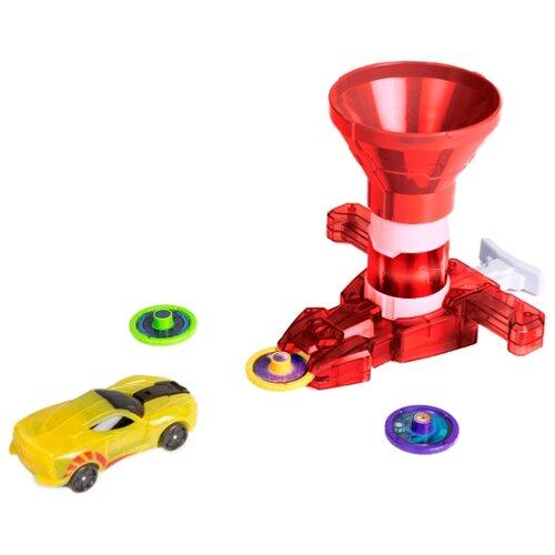 Купить Интерактивная игрушка трансформер РОСМЭН Дикие Скричеры. Запускатели. Бластер для дисков+машинка (35898/36574) красный, Роботы и трансформеры