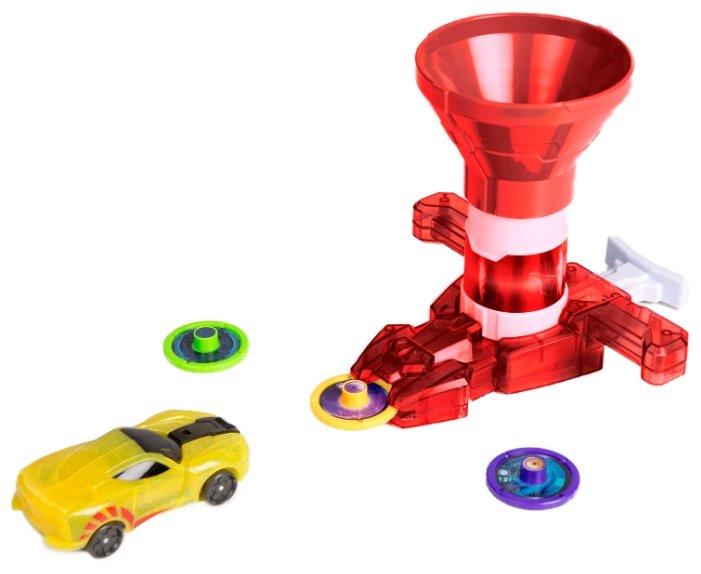 Интерактивная игрушка трансформер РОСМЭН Дикие Скричеры. Запускатели. Бластер для дисков+машинка (35898/36574)