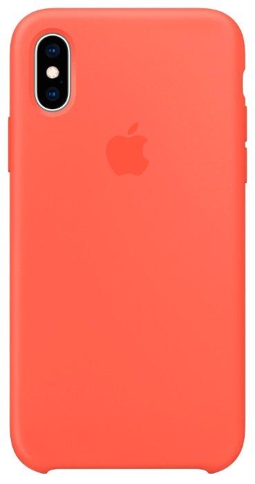 Клип-кейс Apple Для iPhone XS силиконовый MTF82ZM/A Pink