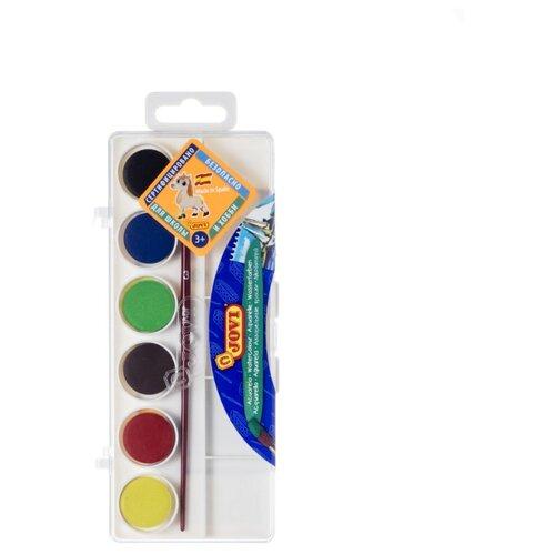 Купить JOVI Акварельные краски 6 цветов с кисточкой (800/6), Краски