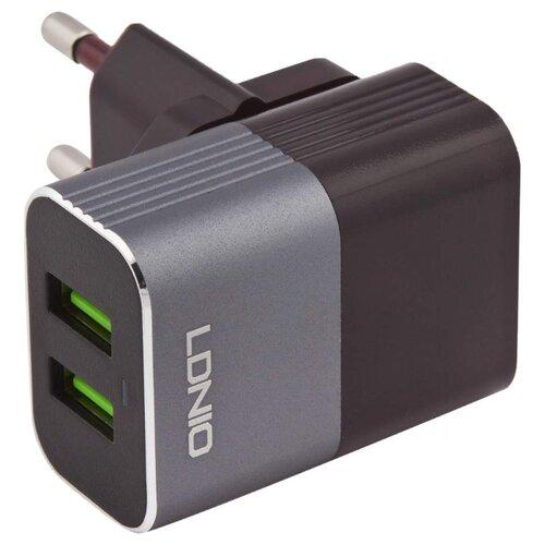Купить Сетевая зарядка LDNIO A2206 + Micro USB черный / серебристый