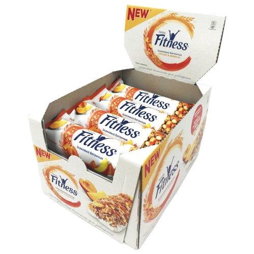 Злаковый батончик Nestle Fitness Персик и абрикос, 16 шт фото