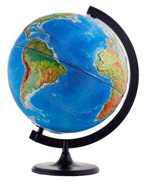 Глобус физико-политический Глобусный мир Двойная карта 320 мм (10202) коричневый