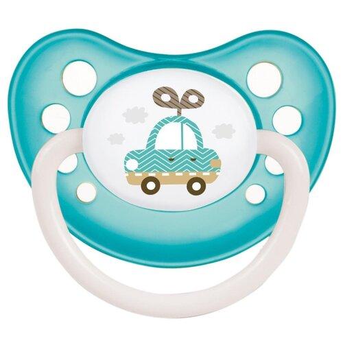 Купить Пустышка силиконовая ортодонтическая Canpol Babies Toys 6-18 м, зеленый/розовый/голубой, Пустышки и аксессуары