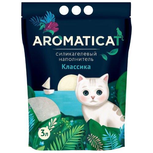 Впитывающий наполнитель AromatiCat Силикагелевый Классика 3 л впитывающий наполнитель glamour cats силикагелевый антибактериальный 3 8 л 1 7 кг