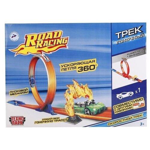 Купить Трек ТЕХНОПАРК Трек гоночный с ускоряющей петлей (S2691-R), Детские треки и авторалли