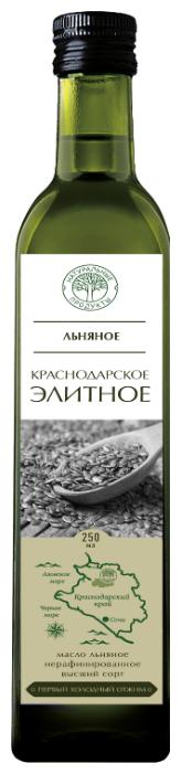 Натуральные продукты Масло льняное Краснодарское элитное 0.25 л