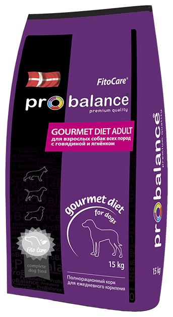 Корм для собак ProBalance Gourmet Diet Beef & Lamb