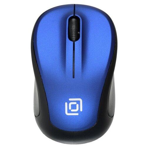Фото - Беспроводная мышь OKLICK 665MW, black/blue мышь oklick 665mw оптическая черная