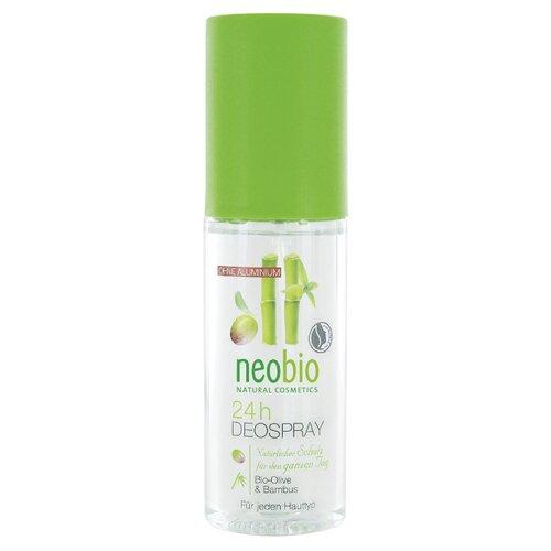 Дезодорант спрей Neobio с био-оливой и бамбуком 24 часа, 100 мл