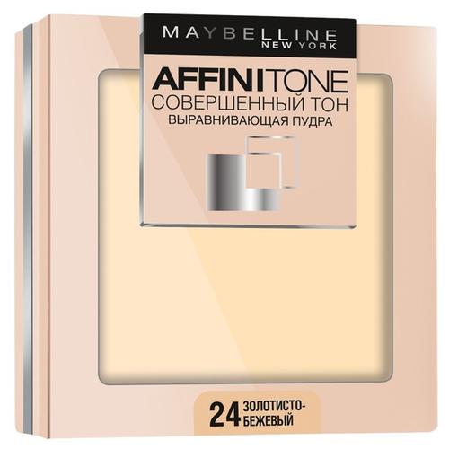Maybelline New York Affinitone пудра компактная Совершенный тон выравнивающая и матирующая 24 золотисто-бежевый выравнивающая компактная пудра совершенный тон affinitone 9г 03 светло бежевый