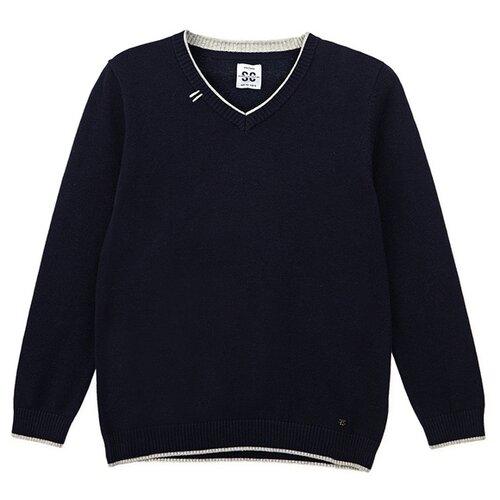 Купить Пуловер playToday размер 158, темно-синий, Свитеры и кардиганы