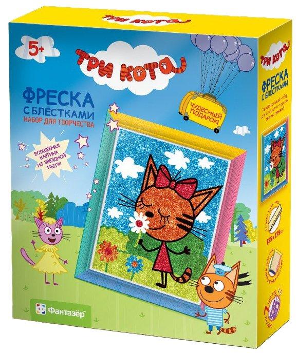 Фантазёр Фреска с блестками Три кота Карамелька (405101)