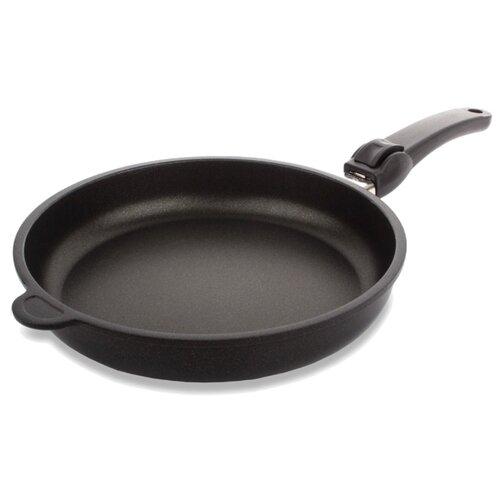 Сковорода AMT Gastroguss AMT520 20 см, съемная ручка, черный сковорода amt gastroguss amt726