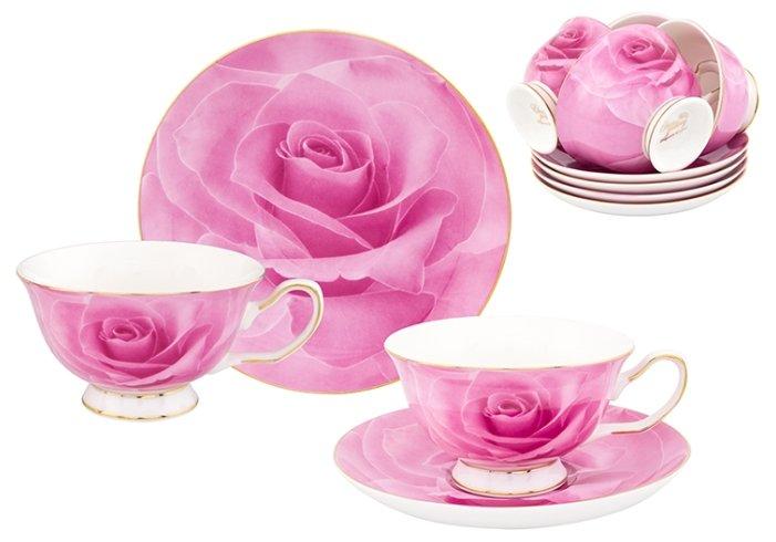 Чайный сервиз Elan gallery Розовая роза