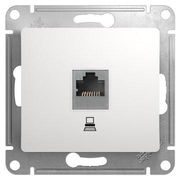 Розетка для интернета / телефона Schneider Electric GLOSSA GSL000181K , белый