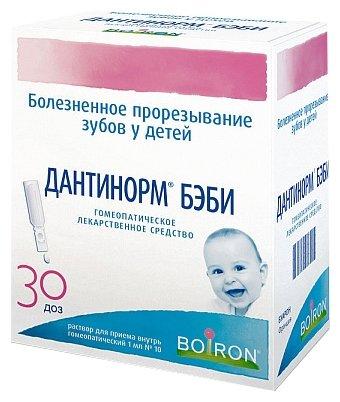 Дантинорм Бэби р-р д/вн. приема гомеопат. конт. 1 мл (1 доза) №30