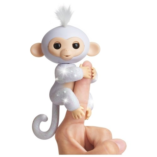 Купить Интерактивная игрушка робот WowWee Fingerlings Ручная обезьянка в блестках шугар, Роботы и трансформеры