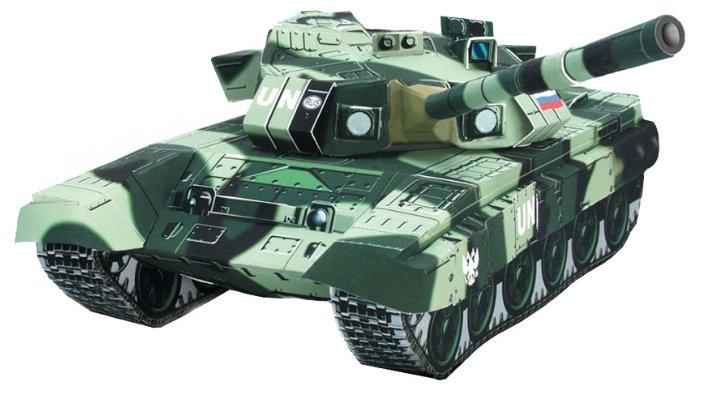 Сборная модель Умная Бумага Танк Т-90 (022) 1:35