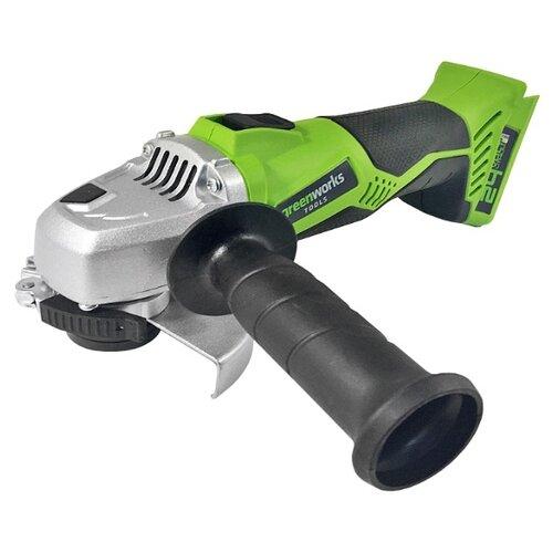 УШМ аккумуляторная greenworks G24AG 0, 24 В, 115 мм, greenworks 24V электропила аккумуляторная greenworks g24cs25k2 2000007va
