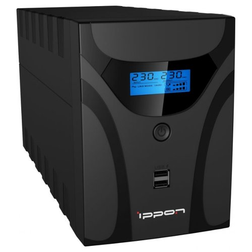Фото - Интерактивный ИБП IPPON Smart Power Pro II Euro 2200 ибп ippon smart power pro ii euro 1200 1200va 720w lcd rs232 rj 45 usb 4 euro