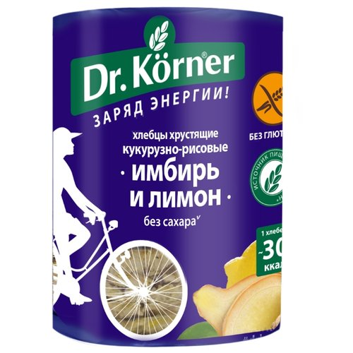 Хлебцы кукурузно-рисовые Dr. Korner имбирь и лимон 90 гХлебцы, сухарики<br>