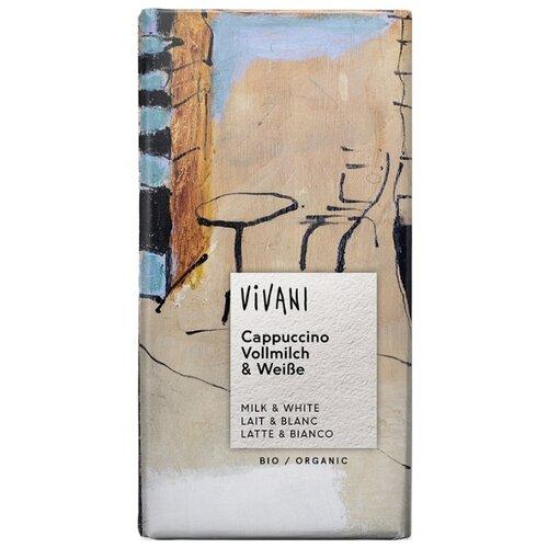 Шоколад Vivani белый и молочный со вкусом капучино, 100 г