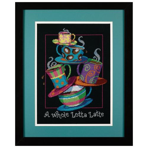 Купить Dimensions Набор для вышивания A Whole Lotta Latte (Полные кружки с кофе-латте) 28 х 36 см (35218), Наборы для вышивания