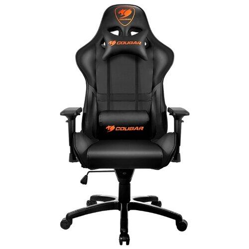 Компьютерное кресло COUGAR Armor игровое, обивка: искусственная кожа, цвет: черный кресло компьютерное игровое cougar armor s b черный