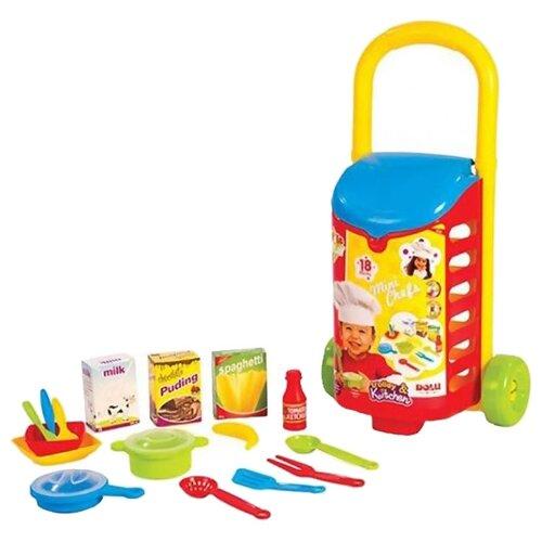 Купить Набор продуктов с посудой Dolu с закрытой тележкой DL_4108, Игрушечная еда и посуда
