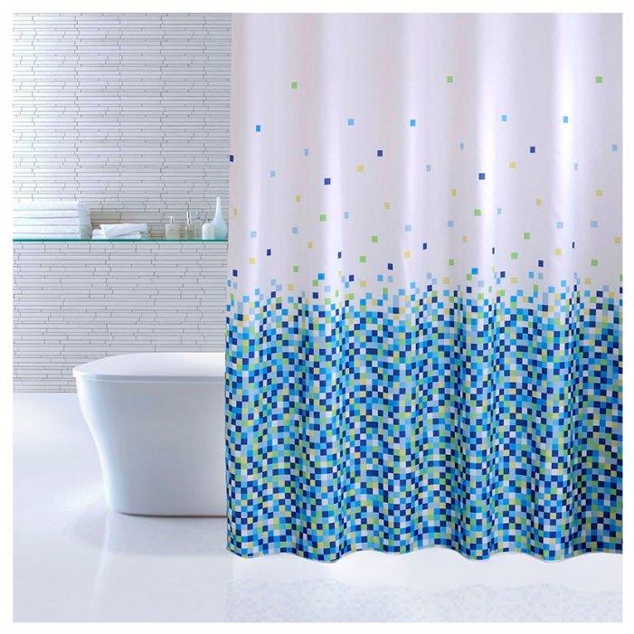 Штора для ванной IDDIS 600P18Ri11 180x200 синий