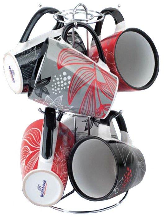 Чайный набор Bohmann, 364ВНС, черный, белый, 340 мл, 7 предметов