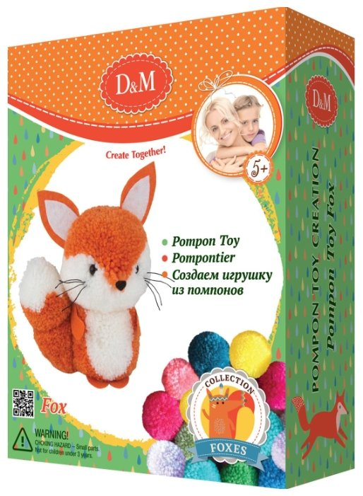 D&M Создаем игрушку из помпонов Лисенок (67829)