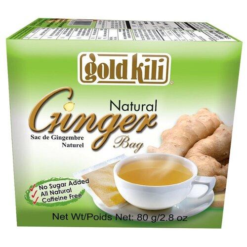 Чайный напиток травяной Gold kili Ginger в пакетиках, 80 г 20 шт.
