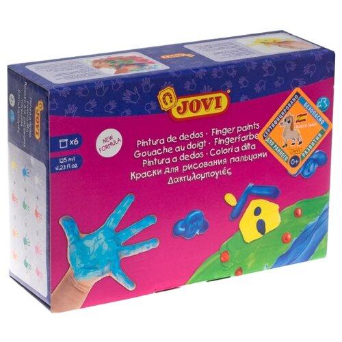 Купить JOVI Пальчиковые краски 6 цветов х 125 мл (560/S), Краски