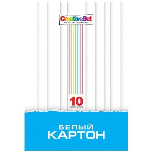 Белый картон Creative Set Hatber, A4, 10 л. набор тетрадей hatber классика 12т5в2