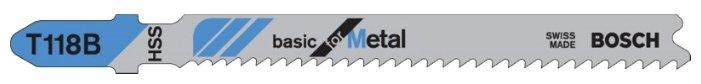 Набор пилок для лобзика BOSCH T118A 2608631013 5 шт.
