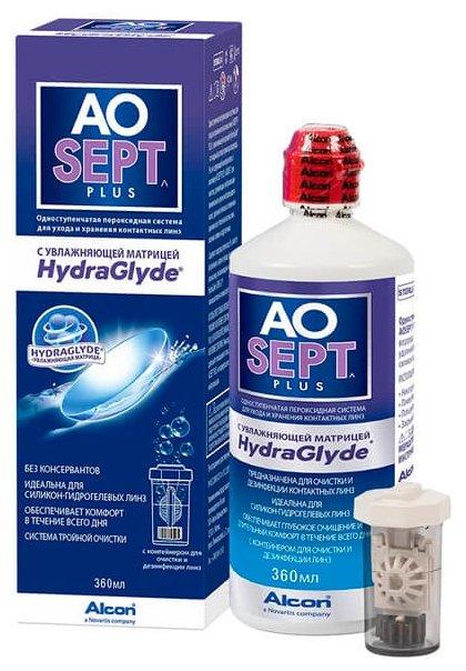 Раствор Aosept Plus HydraGlyde 90 мл